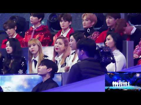 "[171231] MBC 가요대제전 Mamamoo Reaction To EXO ""Universe"" Short Part 직캠"