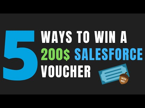 5 Ways to Win a $200 Salesforce Certification Voucher - YouTube