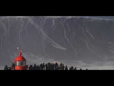 Giant wave surfed by Sebastian Steudtner 01/18/2018  Nazare