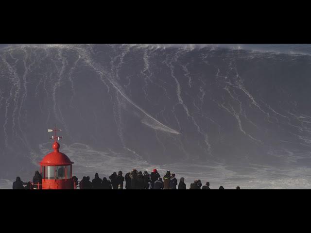 Giant wave surfed by Sebastian Steudtner 01/18/2018  Nazare