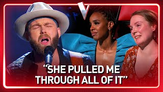 Cancer survivor's GORGEOUS TRIBUTE to his wife on The Voice | Journey #98