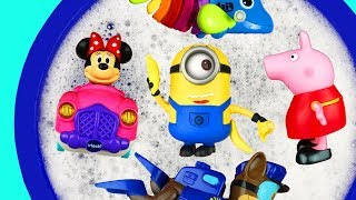 Bucket of Toys with Pj Masks, Paw Patrol, Ladybug, Minions and Animals - Learn Colors