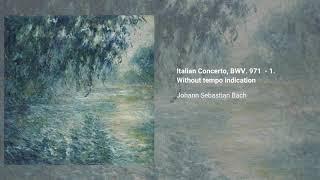 Italian Concerto, BWV 971