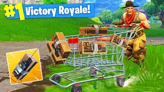 The Explosive C4 Shopping Cart in Fortnite Battle Royale