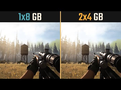 一條8GB記憶體 與 兩條4GB的差別