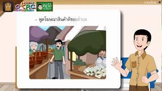สื่อการเรียนการสอน การพูด 2 ป.6 ภาษาไทย