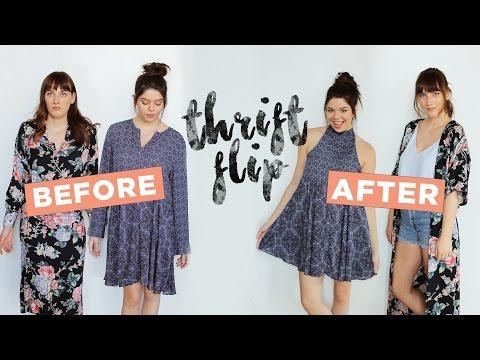 LET'S MAKEOVER SOME THRIFT STORE DRESSES!