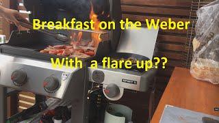 Breakfast on the Weber Spirit II E320 Grill + Flare Up