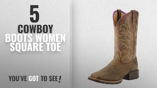 Top 5 Cowboy Boots Women Square Toe [2018]: Ariat Womens Hybrid Rancher Western Cowboy Boot,
