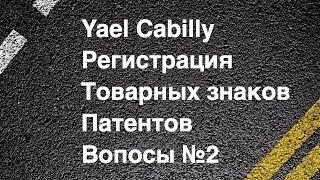 Yael Cabilly Интеллектуальная собственность Регистрация товарных знаков и патентов в США часть №2