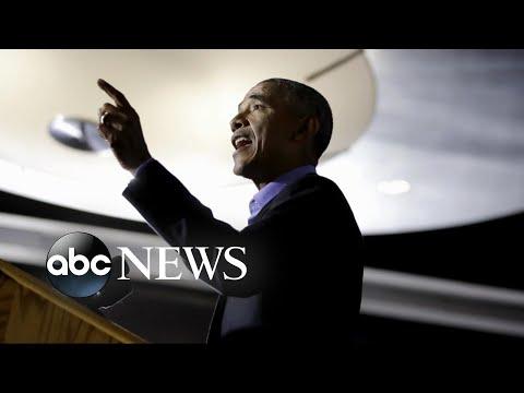 Barack Obama and George W. Bush make rare public appearances