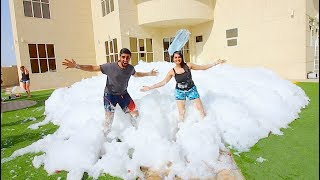WE FILLED OUR HOUSE WITH FOAM *100,000 LITRES* !!!