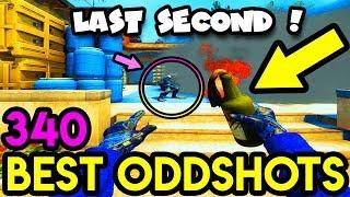 LAST SECOND PLAY.. *EPIC* - CS:GO BEST ODDSHOTS #340