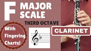 CLARINET F Major Scale | 3rd Octave SLOW