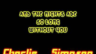 Charlie Simpson - Down Down Down ( Lyrics On Screen And Description )