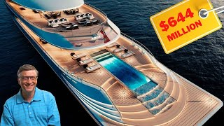 Bill Gates' $644 Million Hydrogen Powered Mega Yacht   Inside and Outside