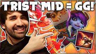 My BUSTED Tristana Mid Level 1 Strategy! 🍔 | Voyboy