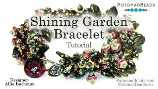 Shining Garden Bracelet- DIY Jewelry Making Tutorial By PotomacBeads