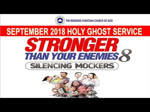 SEPTEMBER 2018- RCCG HOLY GHOST SERVICE