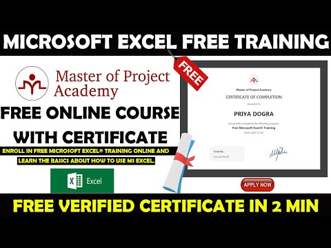Microsoft Excel Free Online Training | MS Excel Free Certificate ...