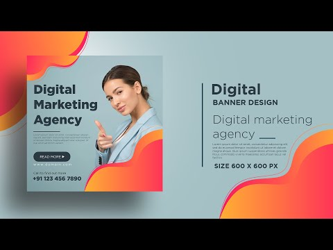 Instagram Post Design   Digital Marketing Banner Design in Adobe Illustrator CC