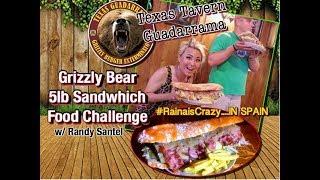 Grizzly Burger Challenge 5lb SANDWICH w/Randy Santel | Journey in Spain | RainaisCrazy