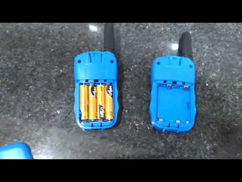 walkie talkie unboxing