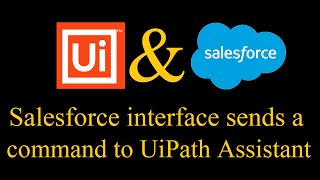 Salesforce Interface Sends a Command With Parameters to UiPath Assistant Using JavaScript