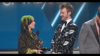 Billie Eilish accepts the GRAMMY for Song of the Year with her brother Finneas O'connell for Bad Guy at the 2020 GRAMMY Awards in Los Angeles, CA.  Full Winners List: https://www.grammy.com/grammys/news/2020-grammy-awards-complete-nominees-list   About the Recording Academy / GRAMMYs:  Recording Academy is the world's leading society of musical professionals, and is dedicated to celebrating, honoring, and sustaining music's past, present and future.   Connect with the Recording Academy / GRAMMYs:  WEBSITE: http://www.grammy.com FACEBOOK: http://grm.my/2gcTcMk  TWITTER: http://grm.my/2gDUHUD   INSTAGRAM: http://grm.my/2gZGIvJ   Subscribe NOW to the Recording Academy / GRAMMYs on YouTube: http://grm.my/1dTBF8H  #GRAMMYs #GRAMMYAwards #UnexpectEverything #GRAMMYs2020 #BillieEilish #Finneas #SongOfTheYear