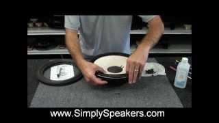 JBL Refoam Repair 128H Replace Foam Edge Speaker Cone REAR MOUNT