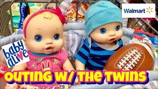Baby Alive wets n wiggles OUTING TO WALMART baby alive 2006