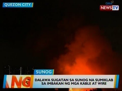 [GMA]  BT: 2 sugatan sa sunog na sumiklab sa imbakan ng mga kable at wire sa QC