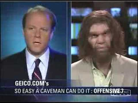 The Geico Caveman commercials were truly ahead of their time