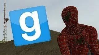 Обзор аддонов в Garrys mod - человек-паук!!!