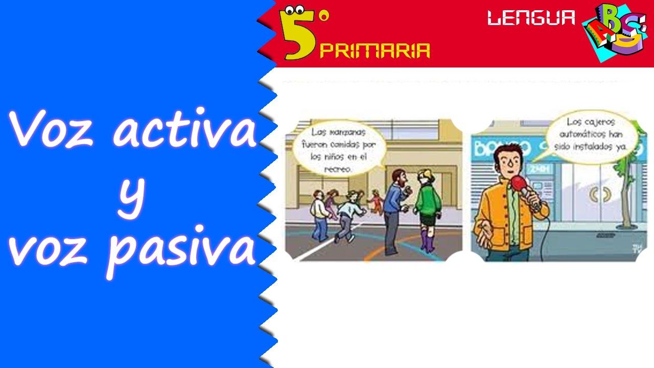 Voz activa y voz pasiva. Lengua, 5º Primaria. Tema 11
