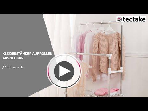 Kleiderständer auf Rollen, ausziehbar | tectake