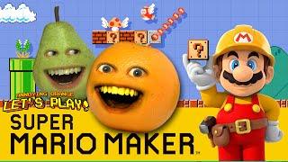 Annoying Orange and Pear Plays - Super Mario Maker: THUNDERWEAR!