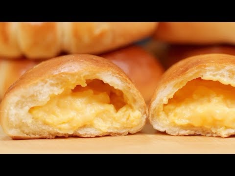 The Best Cream Pan Recipe (Japanese Sweet Buns Filled with Exquisite Pastry Cream) |Cooking with Dog