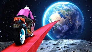 I Tried The IMPOSSIBLE SPACE STUNT CHALLENGE In GTA 5.. (Mods)