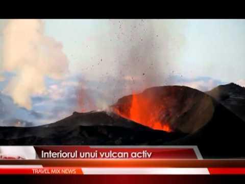Interiorul unui vulcan activ