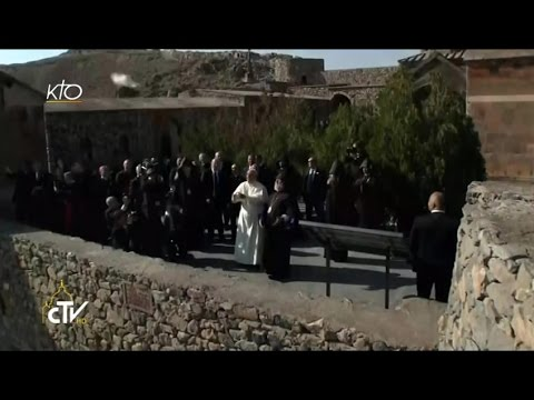 Prière du Pape François au Monastère de Khor Virap
