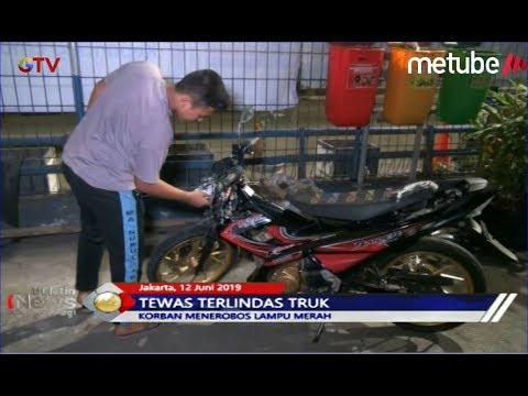 Pengendara Sepeda Motor Tewas Terlindas Truk Kontainer Setelah Terobos Lampu Merah - BIP 13/06