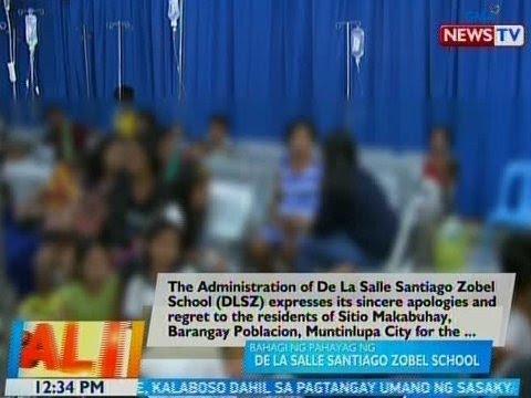 [GMA]  BT: Bahagi ng pahayag ng De La Salle Santiago-Zobel School