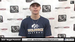 2022 Maggie Paulovich 3.5 GPA Catcher, OF & SS Softball Skills Video Lady Wolfpack 18 Gold - Alkire