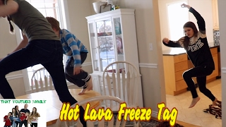 Floor Is Lava   LAVA MONSTER   Hot Lava Freeze Tag  That YouTub3 Family | Family Channel