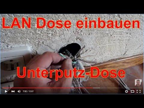 LAN Netzwerk: erste Unterputzdose verdrahten Gigabit Ethernet