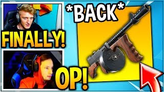 """STREAMERS REACT TO """"DRUM GUN"""" *BACK* IN FORTNITE! (UNVAULTED)"""