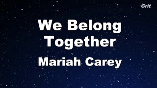 We Belong Together - Mariah Carey Karaoke【With Guide Melody】
