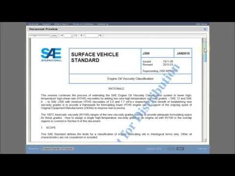 How to Search for an Engine Oil Viscosity Standard Using the SAE International Digital Library