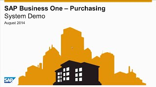 SAP Business One – Purchasing